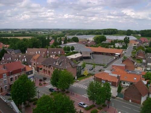 vue du bourg prise du clocher de l'église